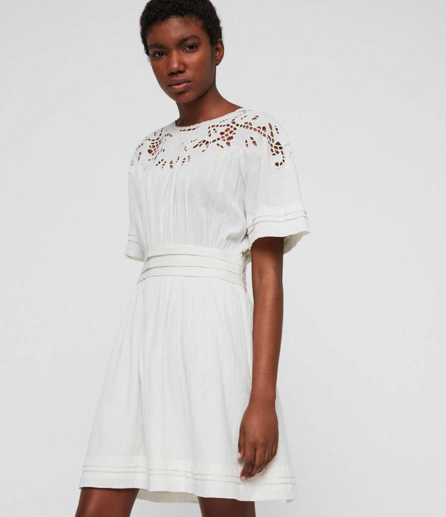 Women's Lise Dress (chalk_white) - Image 1