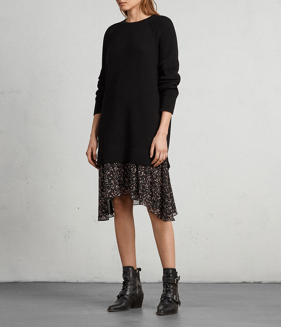 Womens Pepper Sweater Dress (black) - Image 1