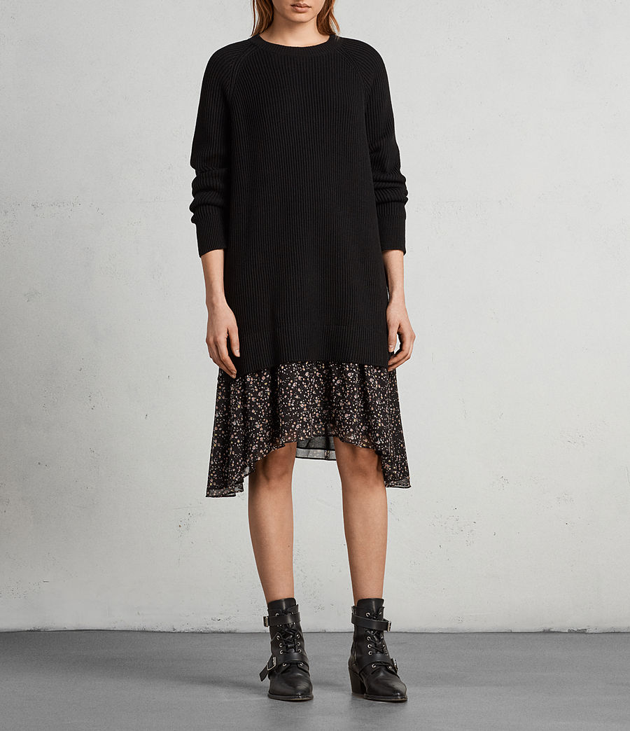 Womens Pepper Sweater Dress (black) - Image 3