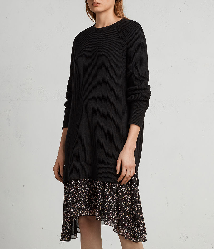 Womens Pepper Sweater Dress (black) - Image 4