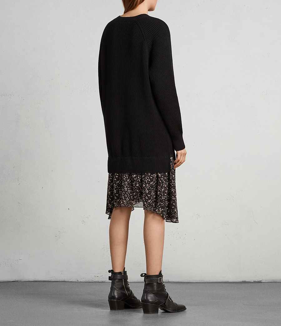 Womens Pepper Sweater Dress (black) - Image 5
