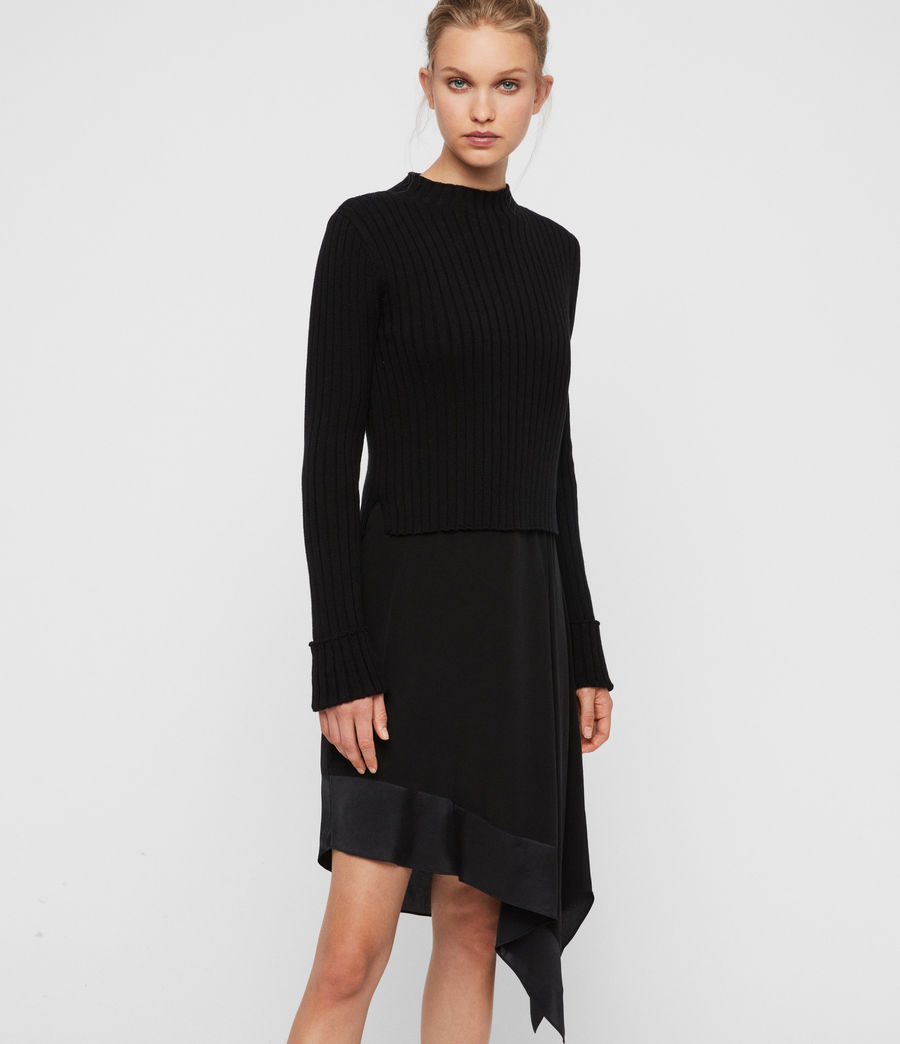 Women's Elina Dress (black) - Image 4