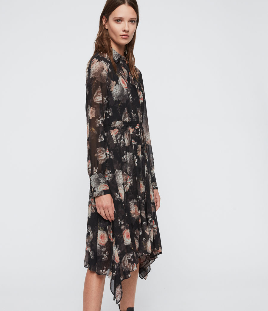 Womens Lizzy Eden Dress (black) - Image 3