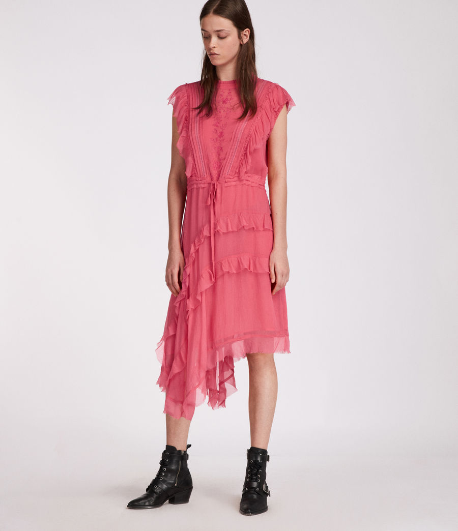 Womens Lena Kishani Dress (bright_pink) - Image 1