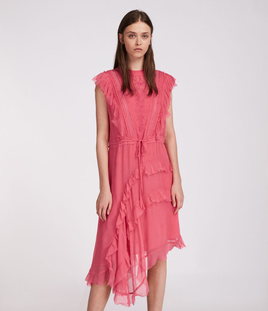 Womens Lena Kishani Dress (bright_pink) - Image 3
