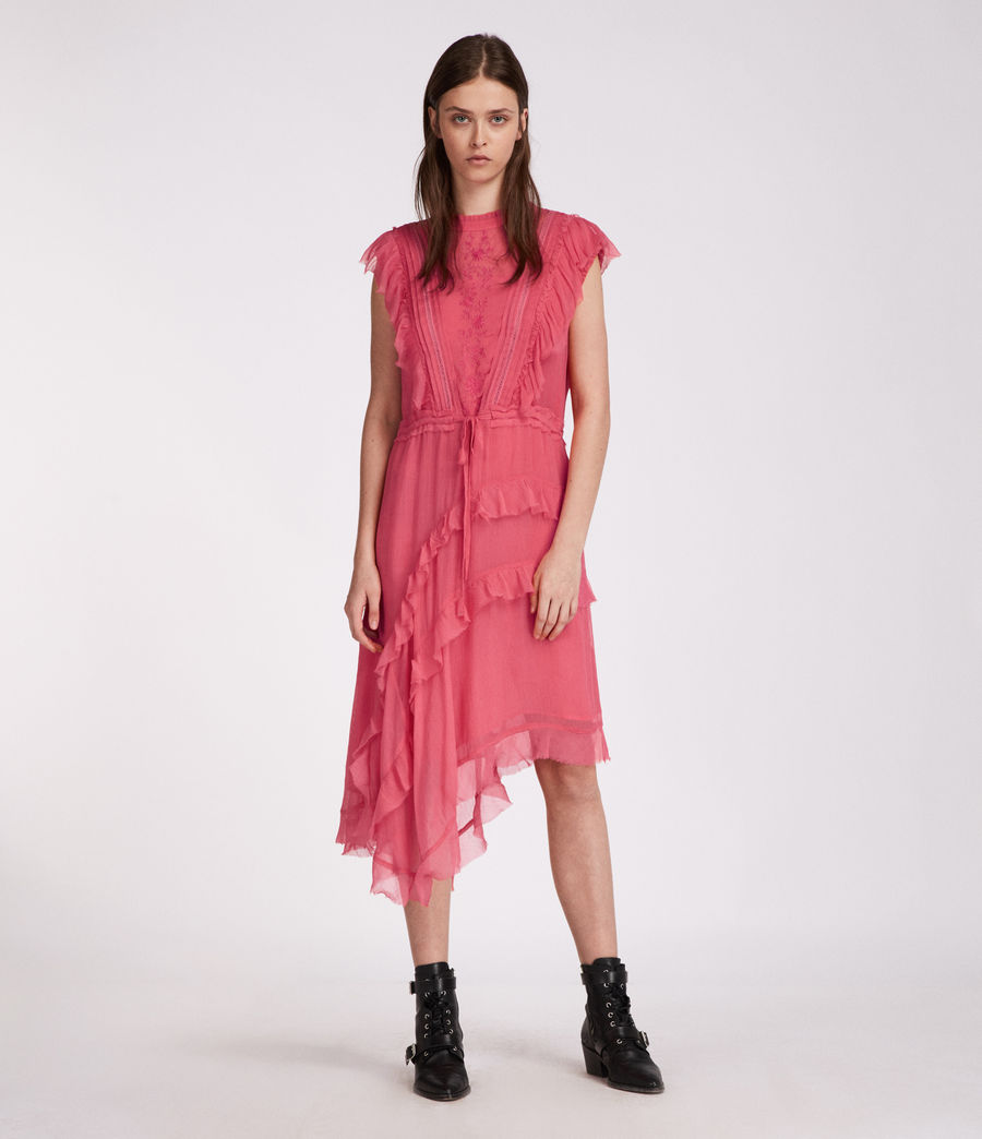 Womens Lena Kishani Dress (bright_pink) - Image 4