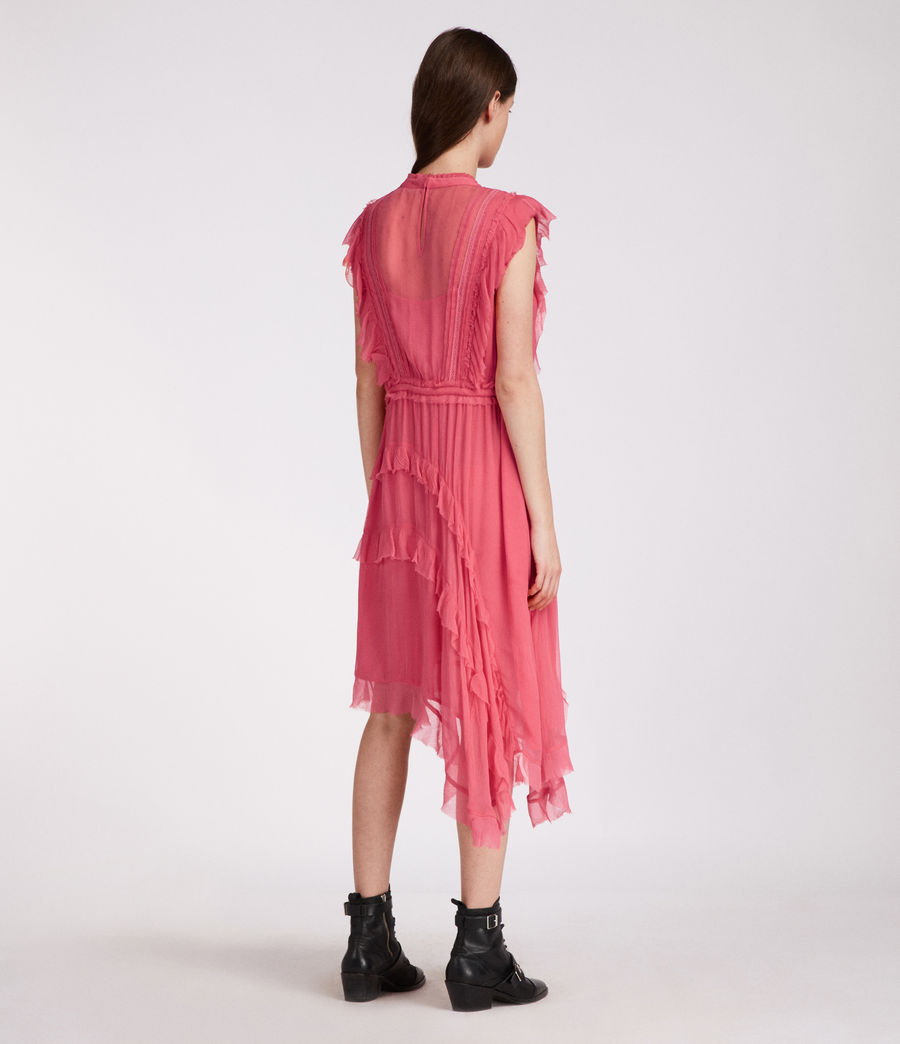 Womens Lena Kishani Dress (bright_pink) - Image 6