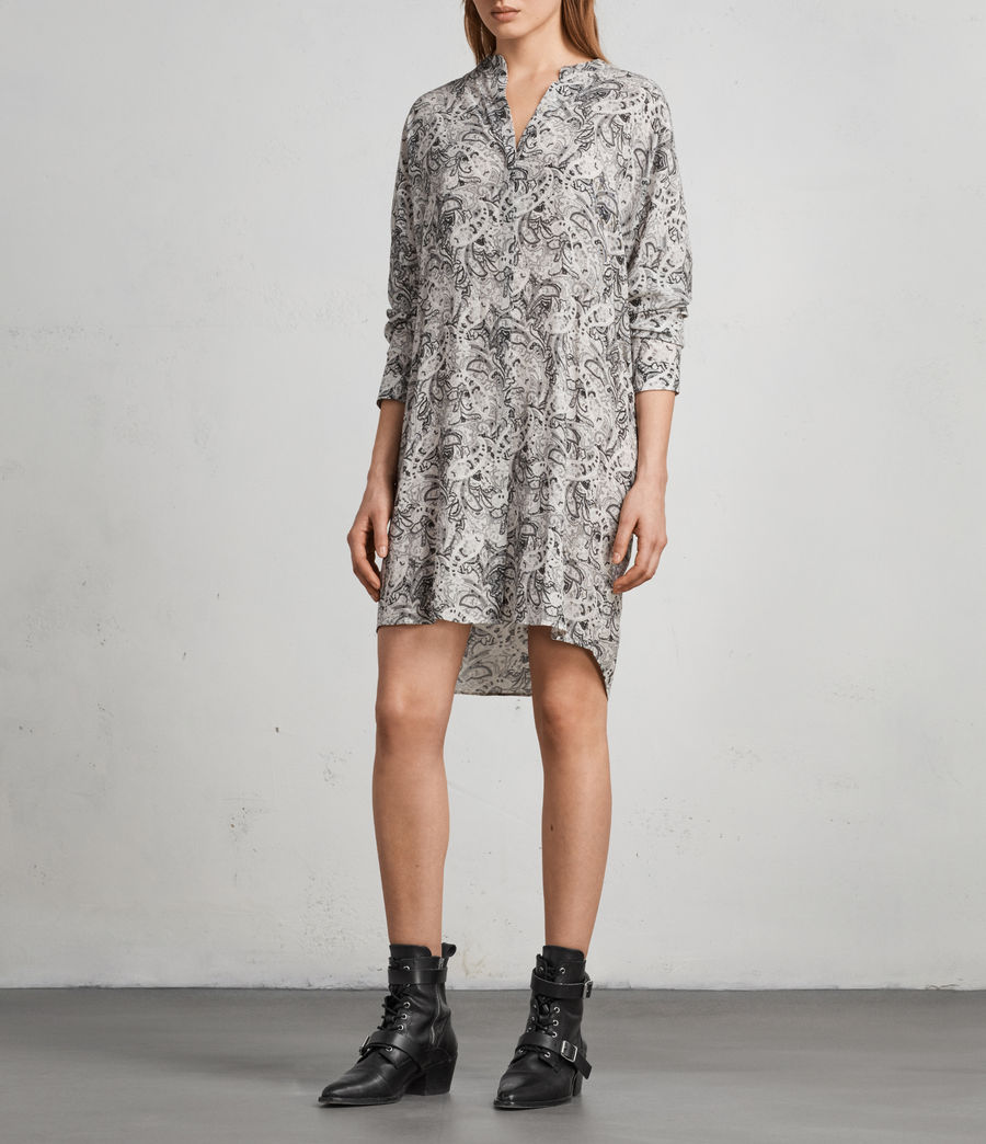 Women's Cayla Paisley Shirt Dress (white) - Image 1