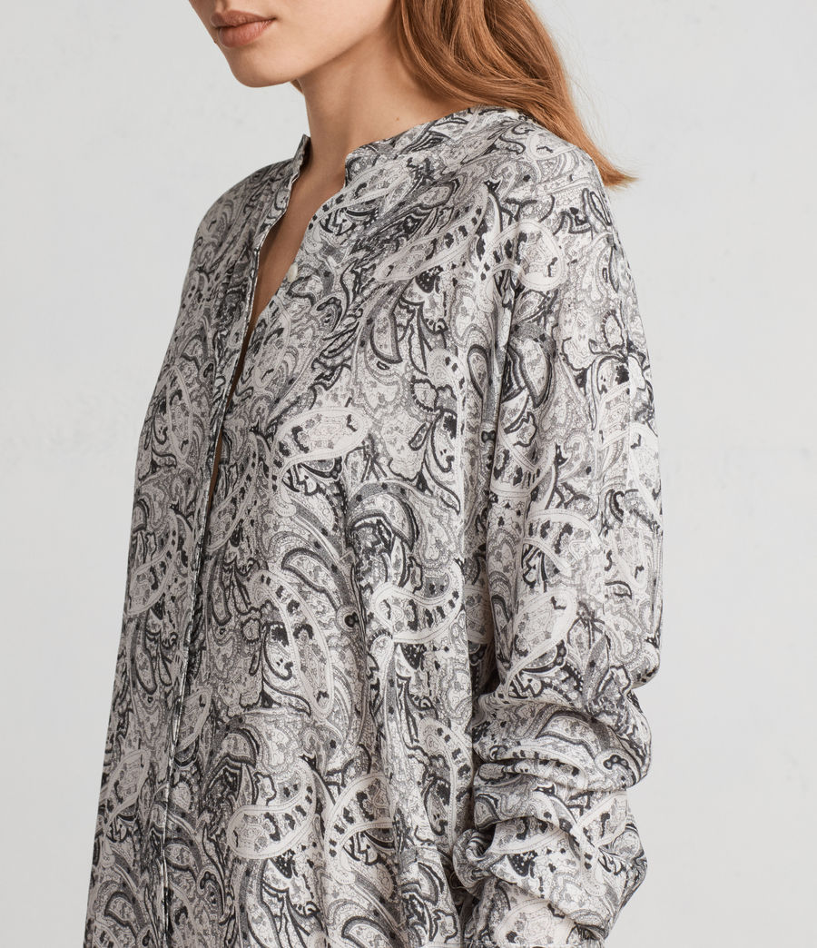 Women's Cayla Paisley Shirt Dress (white) - Image 2