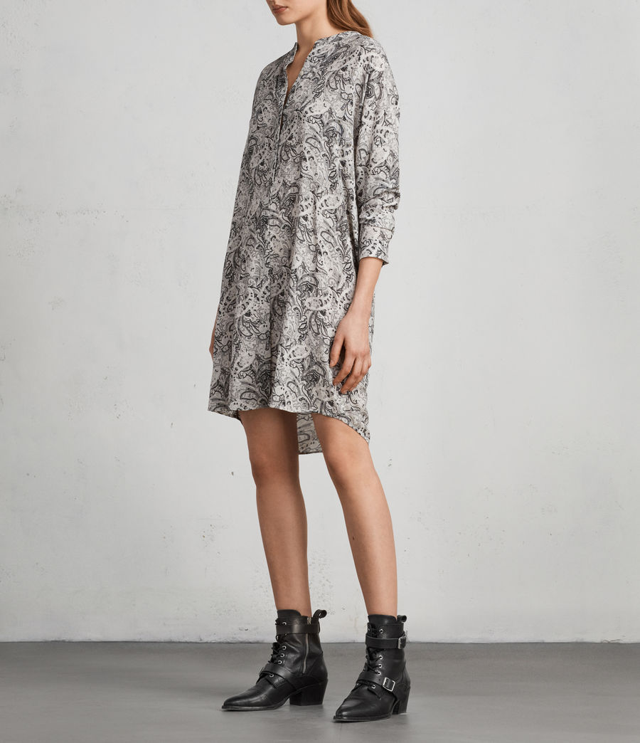 Women's Cayla Paisley Shirt Dress (white) - Image 3