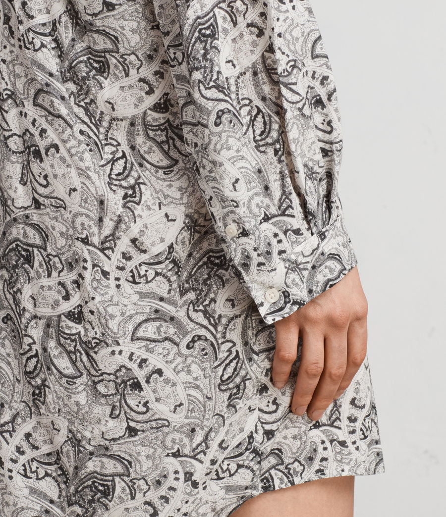 Women's Cayla Paisley Shirt Dress (white) - Image 4