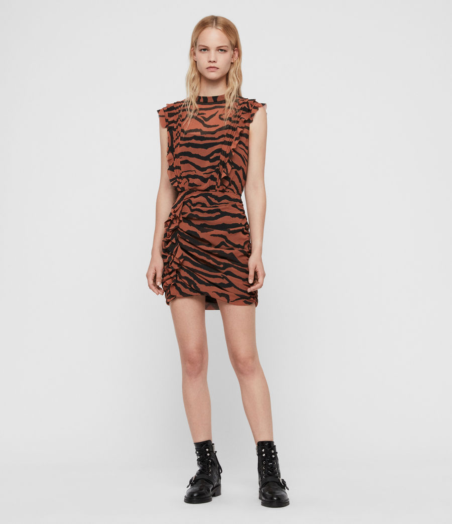 Damen Hali Zephyr Kleid (toffee_brown_black) - Image 3