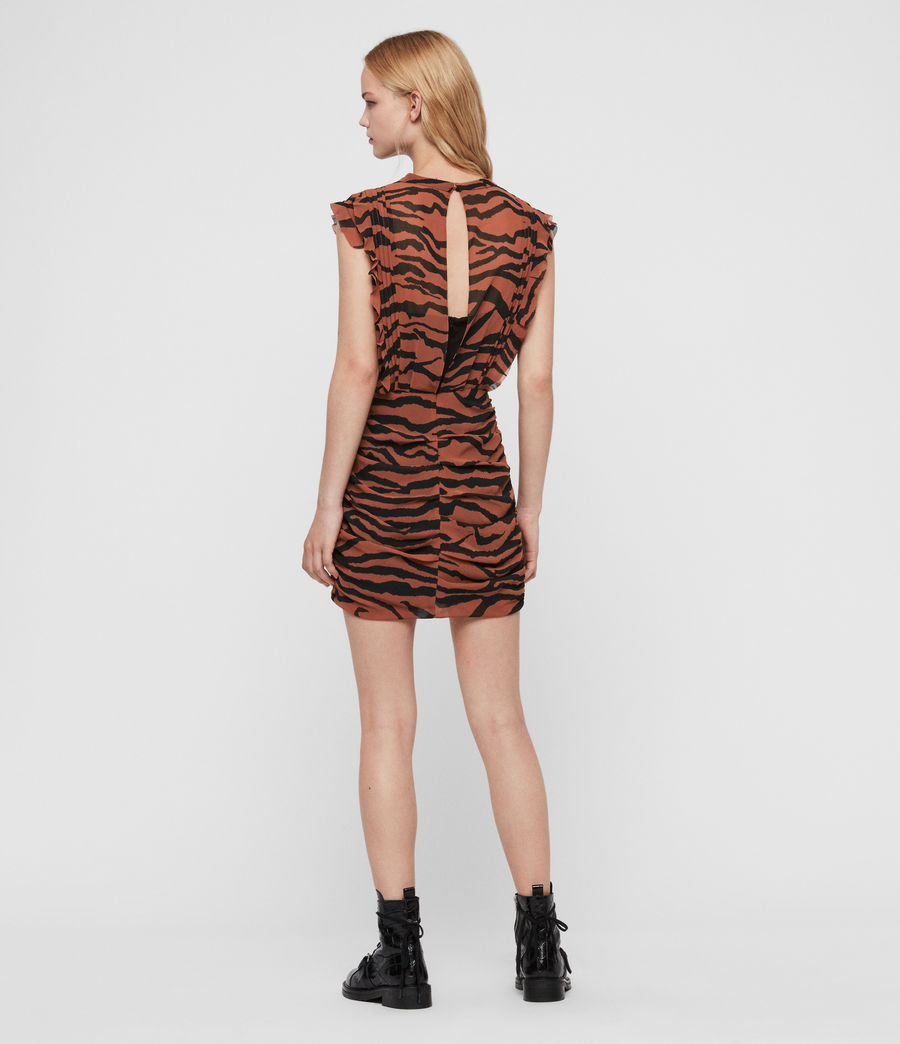 Women's Hali Zephyr Dress (toffee_brown_black) - Image 4