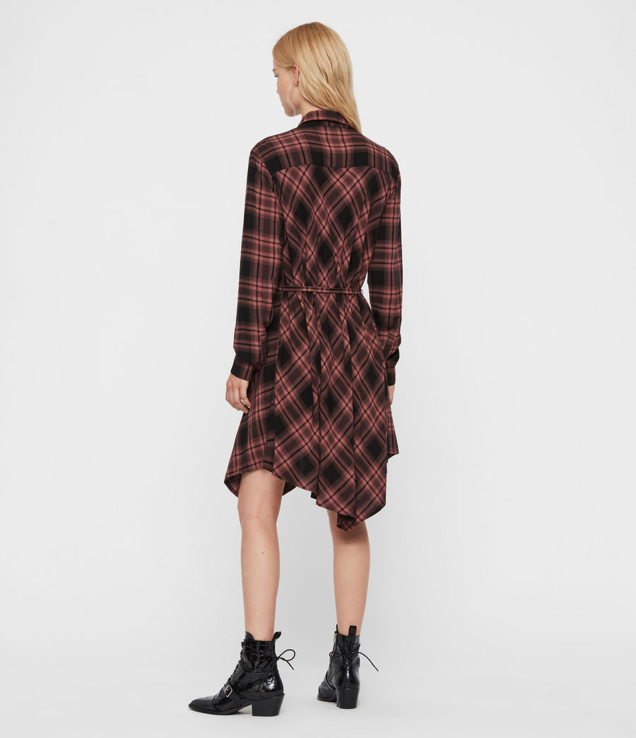 Women's Tala Check Dress (red) - Image 5