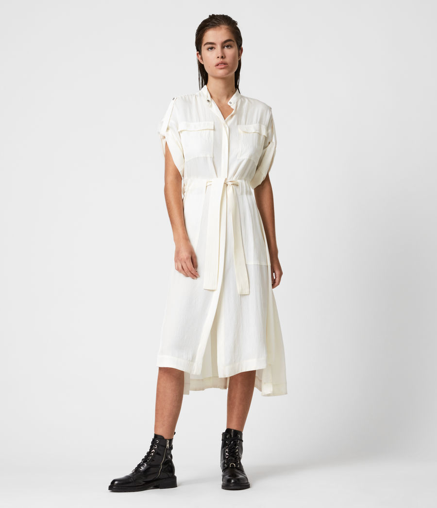 Women's Luciana Dress (ecru_white) - Image 1