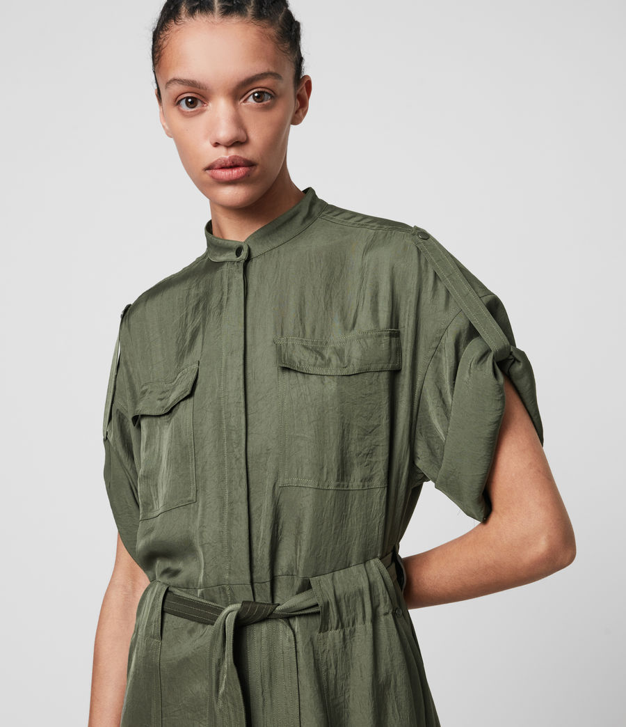 Women's Luciana Dress (utility_green) - Image 2