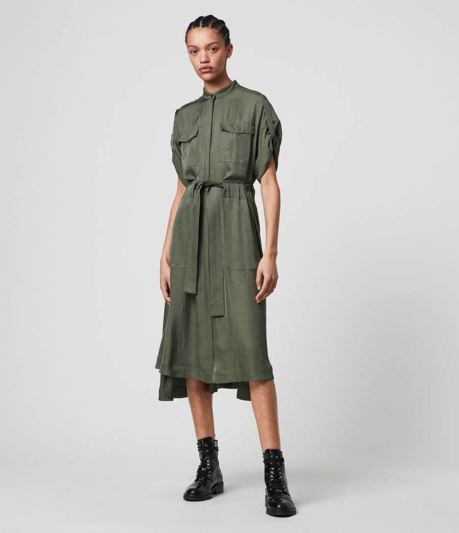 Women's Luciana Dress (utility_green) - Image 3