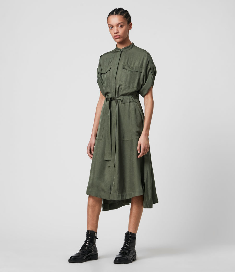 Women's Luciana Dress (utility_green) - Image 4