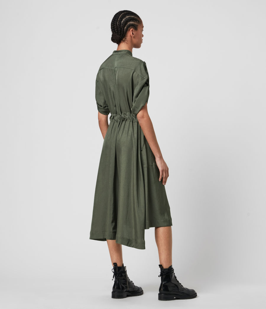 Women's Luciana Dress (utility_green) - Image 6
