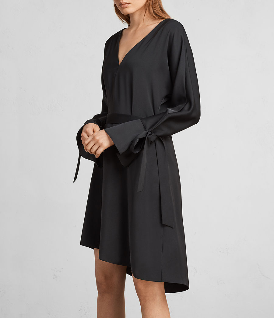 Womens Sia Dress (black) - Image 2