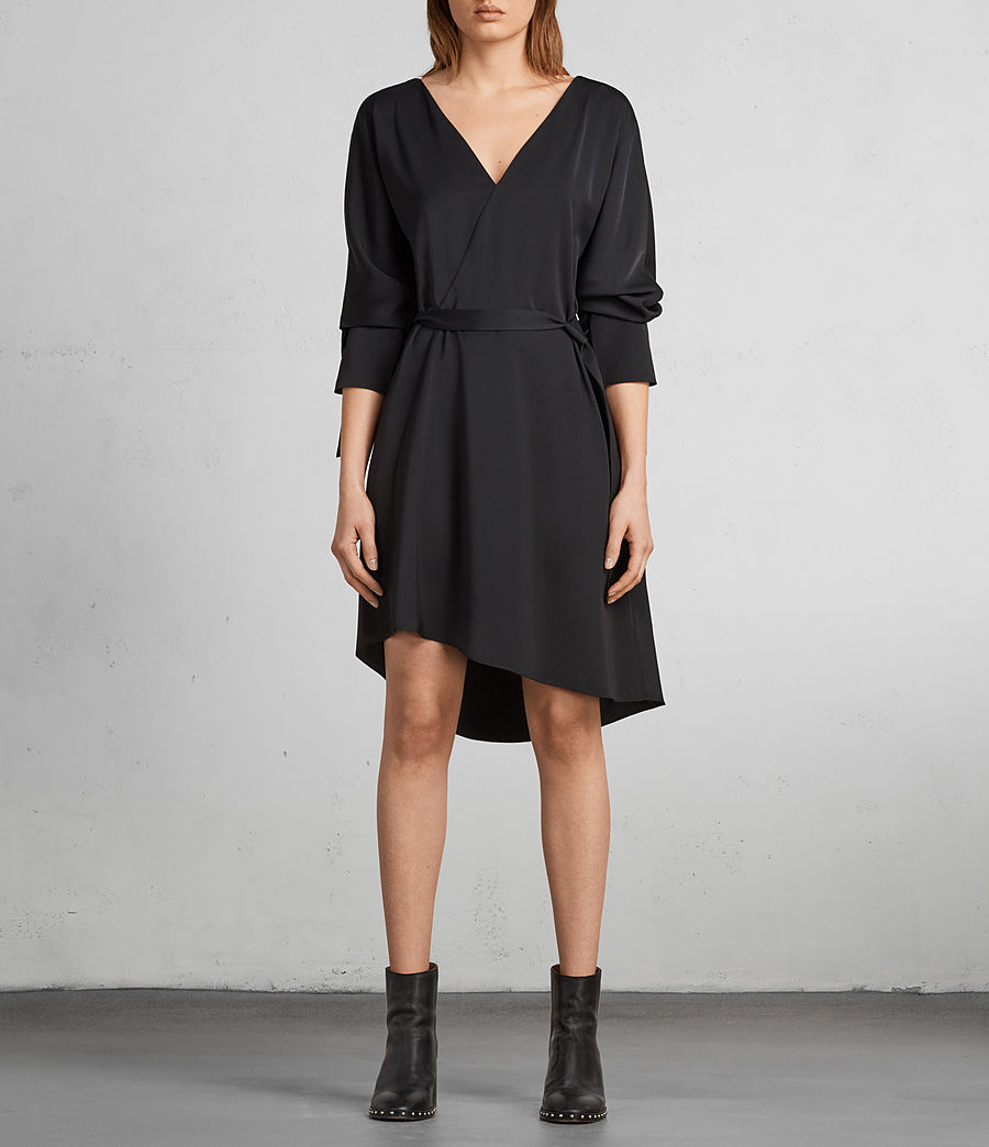 Womens Sia Dress (black) - Image 3