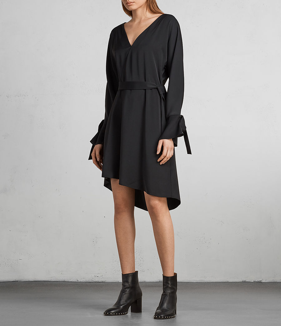 Womens Sia Dress (black) - Image 4