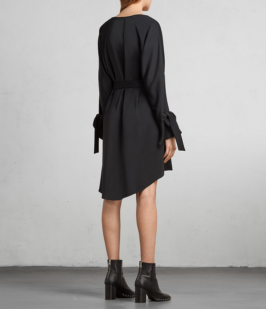 Womens Sia Dress (black) - Image 6