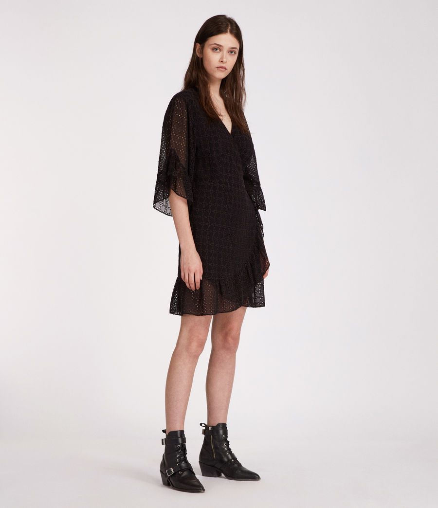 Women's Marlow Ette Dress (black) - Image 4