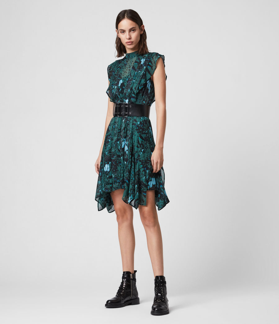 Womens Fleur Wing Dress (opal_green) - Image 1