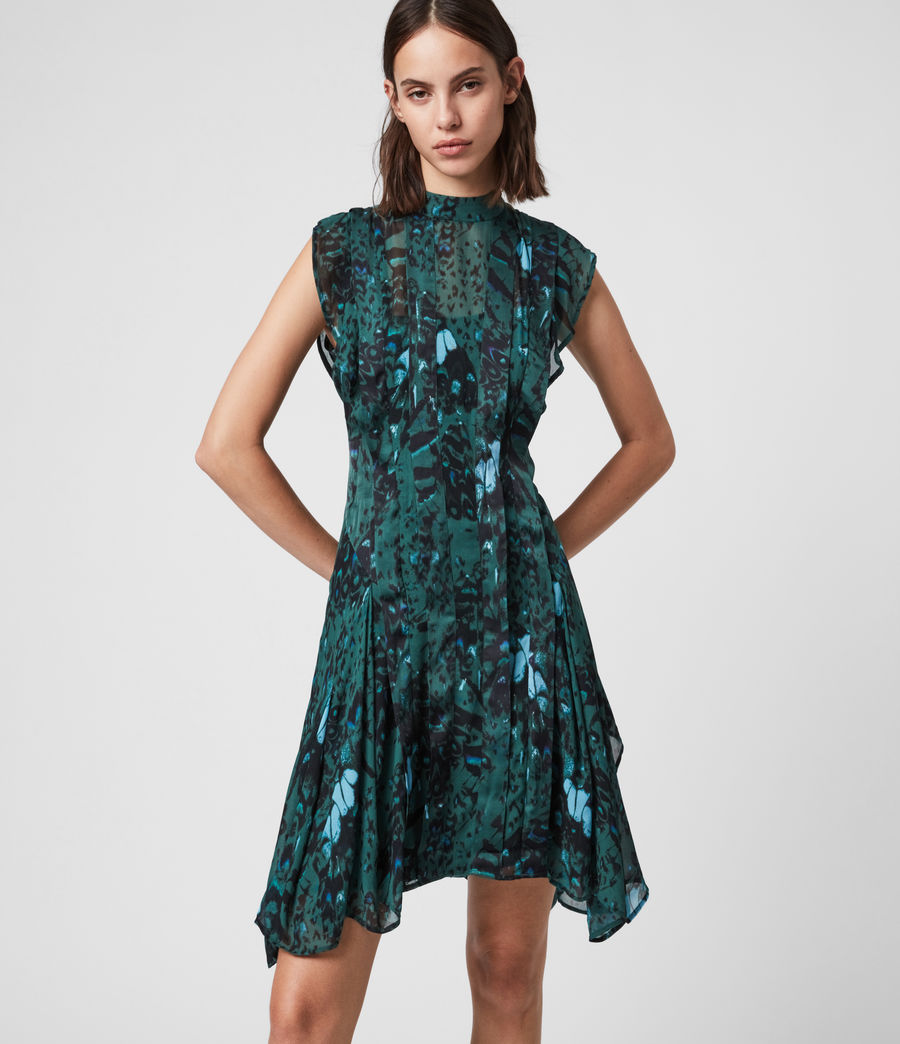 Womens Fleur Wing Dress (opal_green) - Image 3