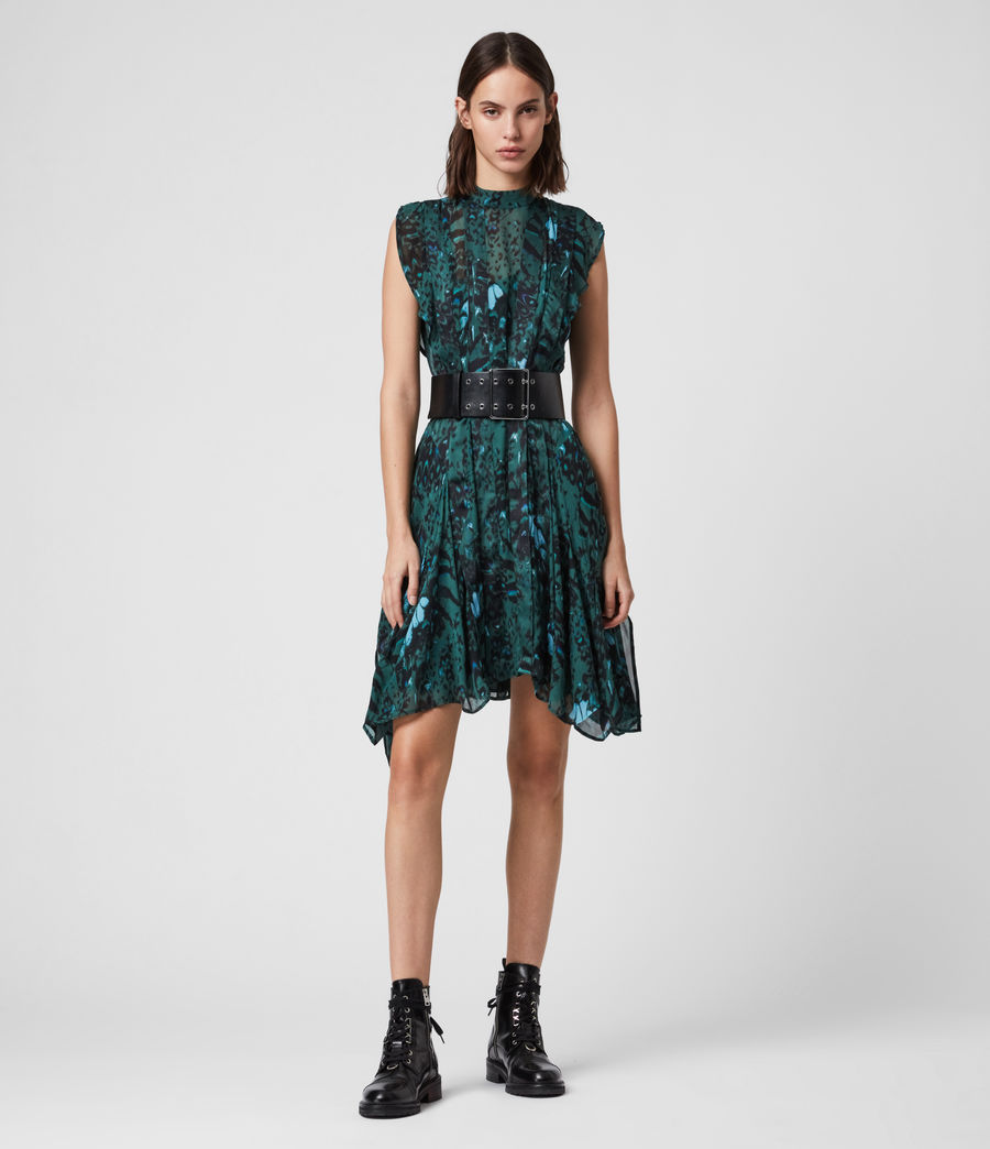 Womens Fleur Wing Dress (opal_green) - Image 4