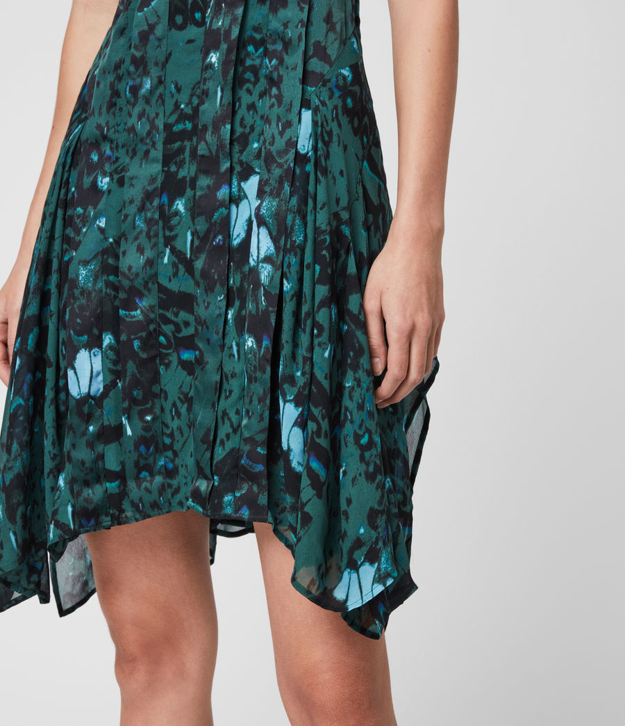 Womens Fleur Wing Dress (opal_green) - Image 6