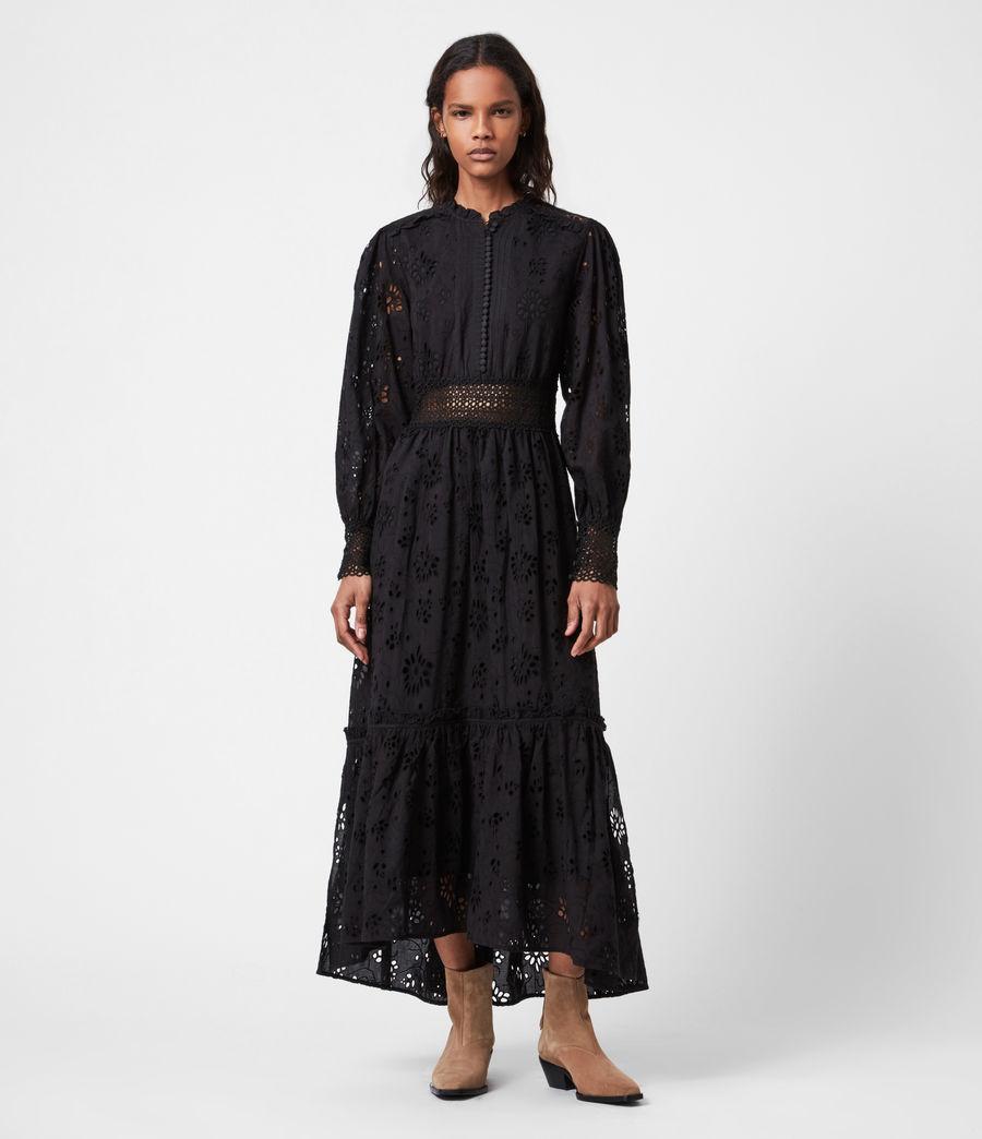 Damen Sia Broderie Kleid (black) - Image 1