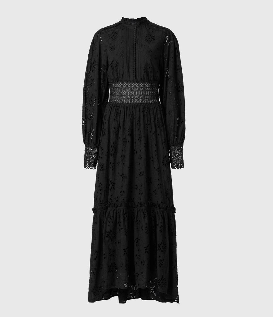 Damen Sia Broderie Kleid (black) - Image 2