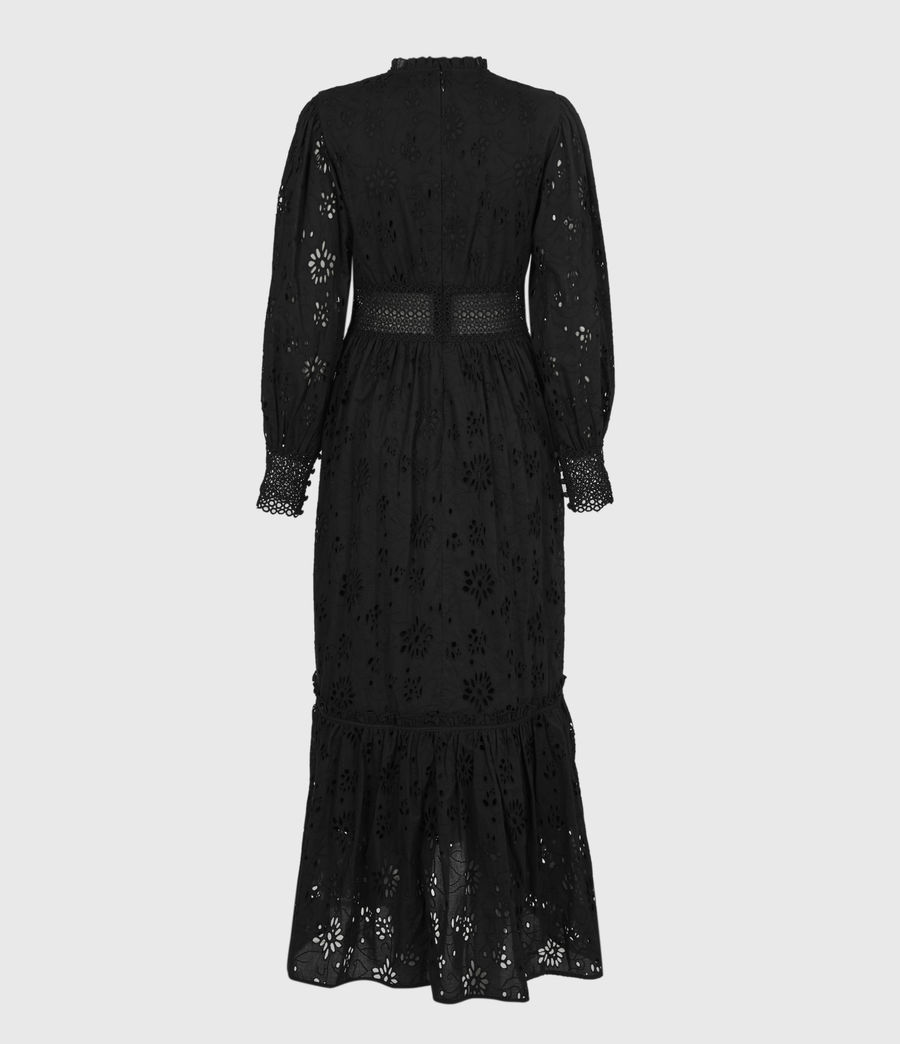 Damen Sia Broderie Kleid (black) - Image 3