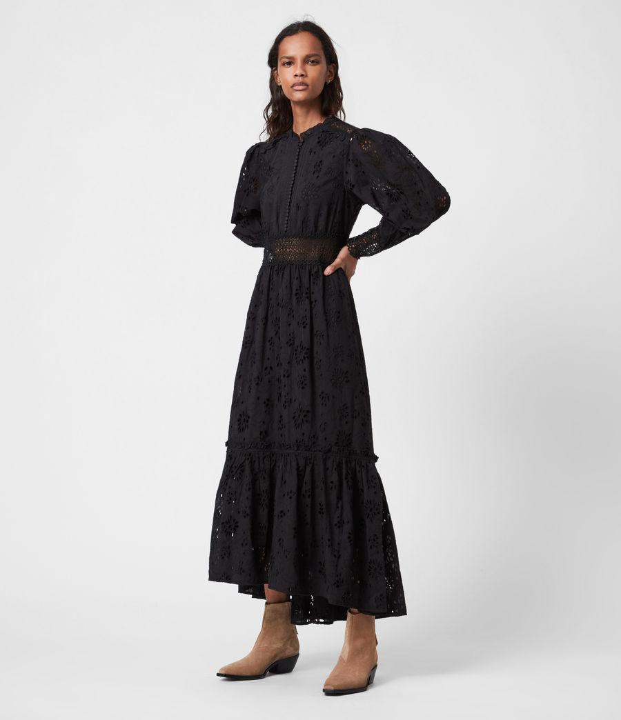 Damen Sia Broderie Kleid (black) - Image 4