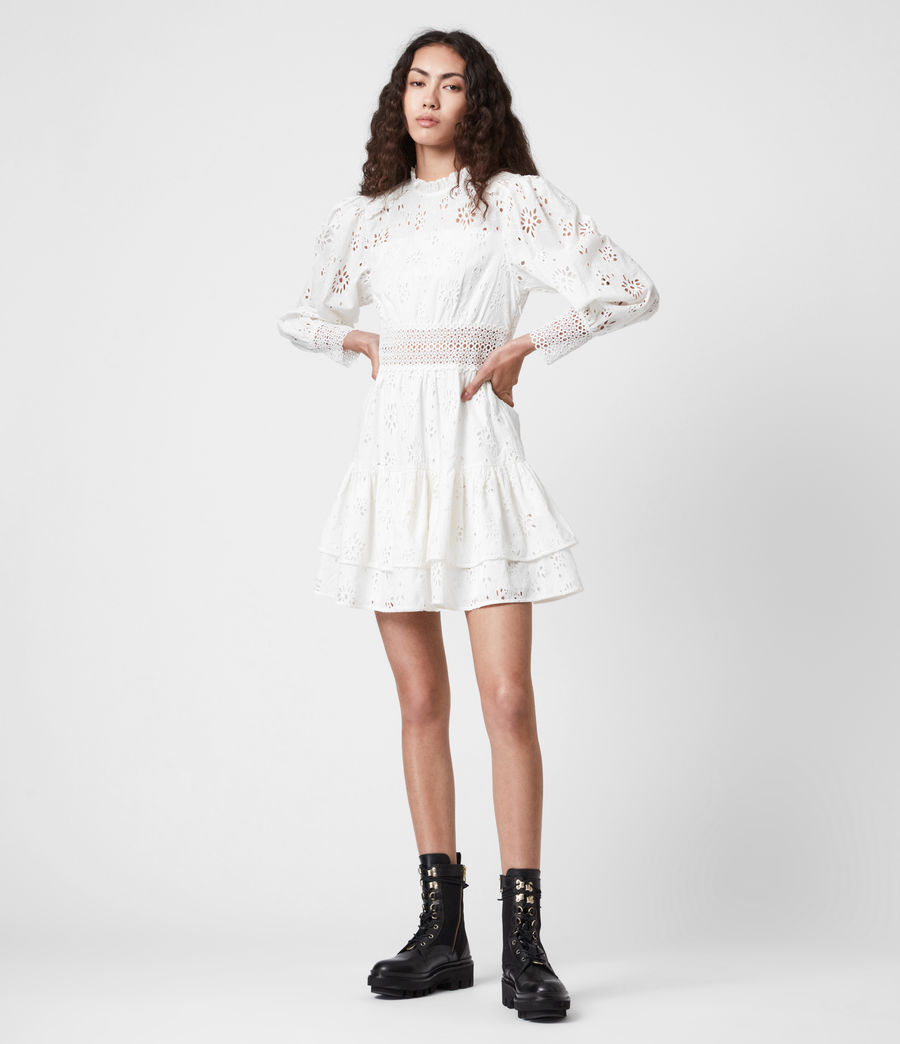 Womens Annasia Broderie Dress (chalk_white) - Image 1