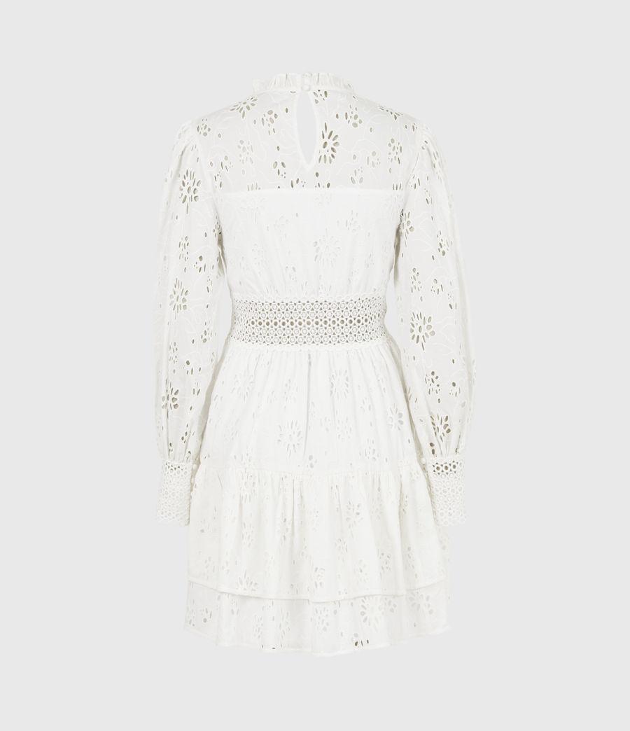 Womens Annasia Broderie Dress (chalk_white) - Image 3