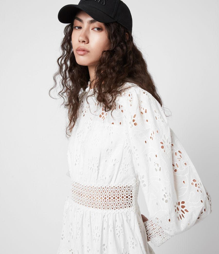 Womens Annasia Broderie Dress (chalk_white) - Image 4