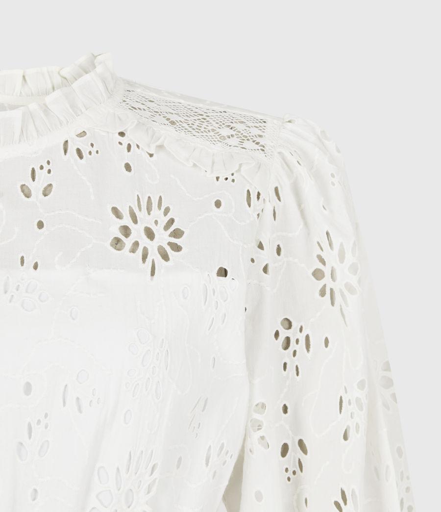 Womens Annasia Broderie Dress (chalk_white) - Image 5