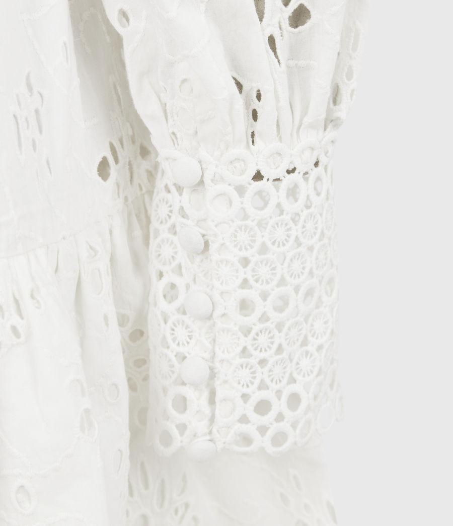Womens Annasia Broderie Dress (chalk_white) - Image 6