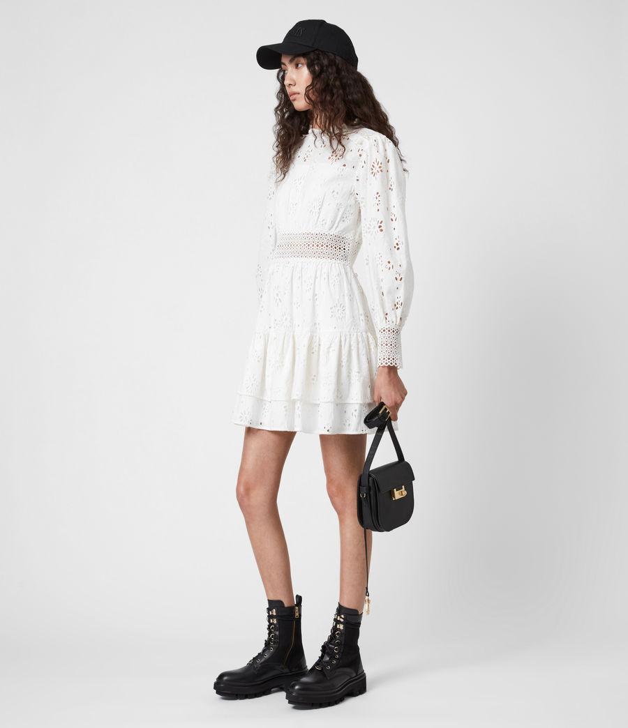 Womens Annasia Broderie Dress (chalk_white) - Image 7