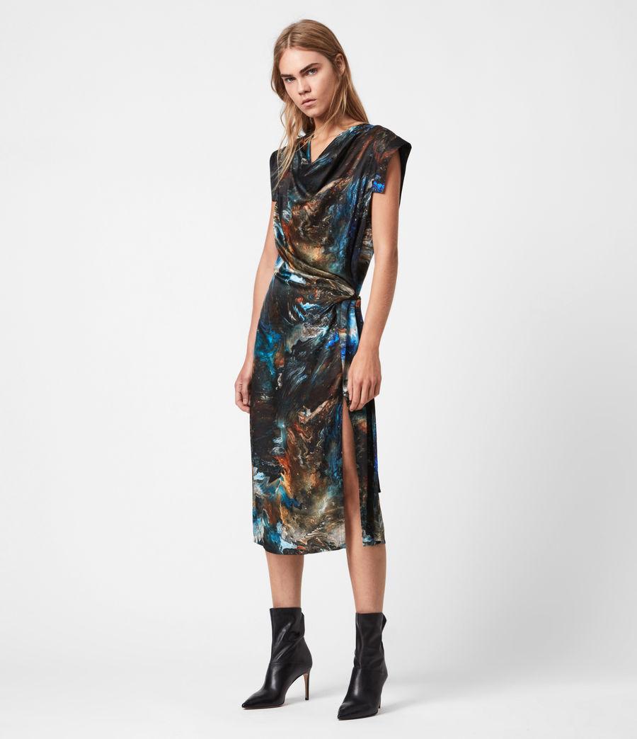 Womens Lina Concerto Dress (blue) - Image 4