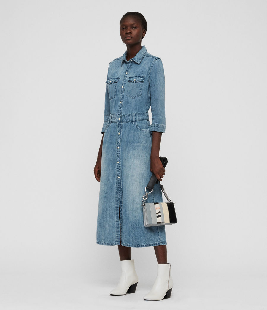 Womens Polly Long Denim Dress (indigo_blue) - Image 5