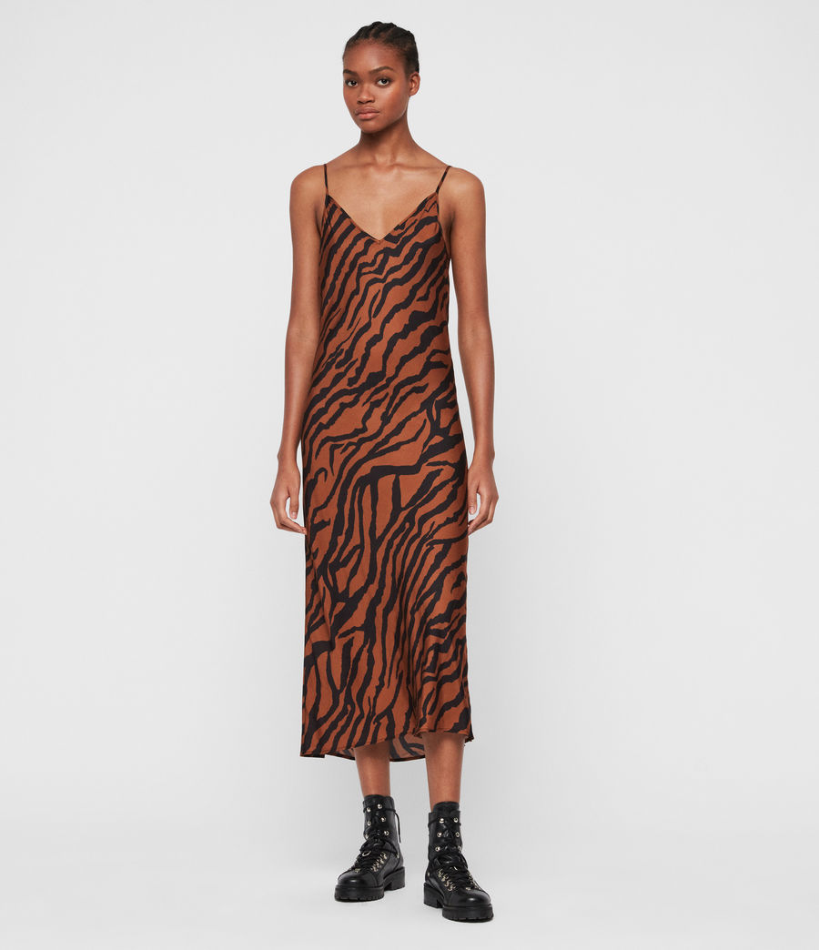 Womens Hera Zephyr Dress (toffee_brown_black) - Image 3