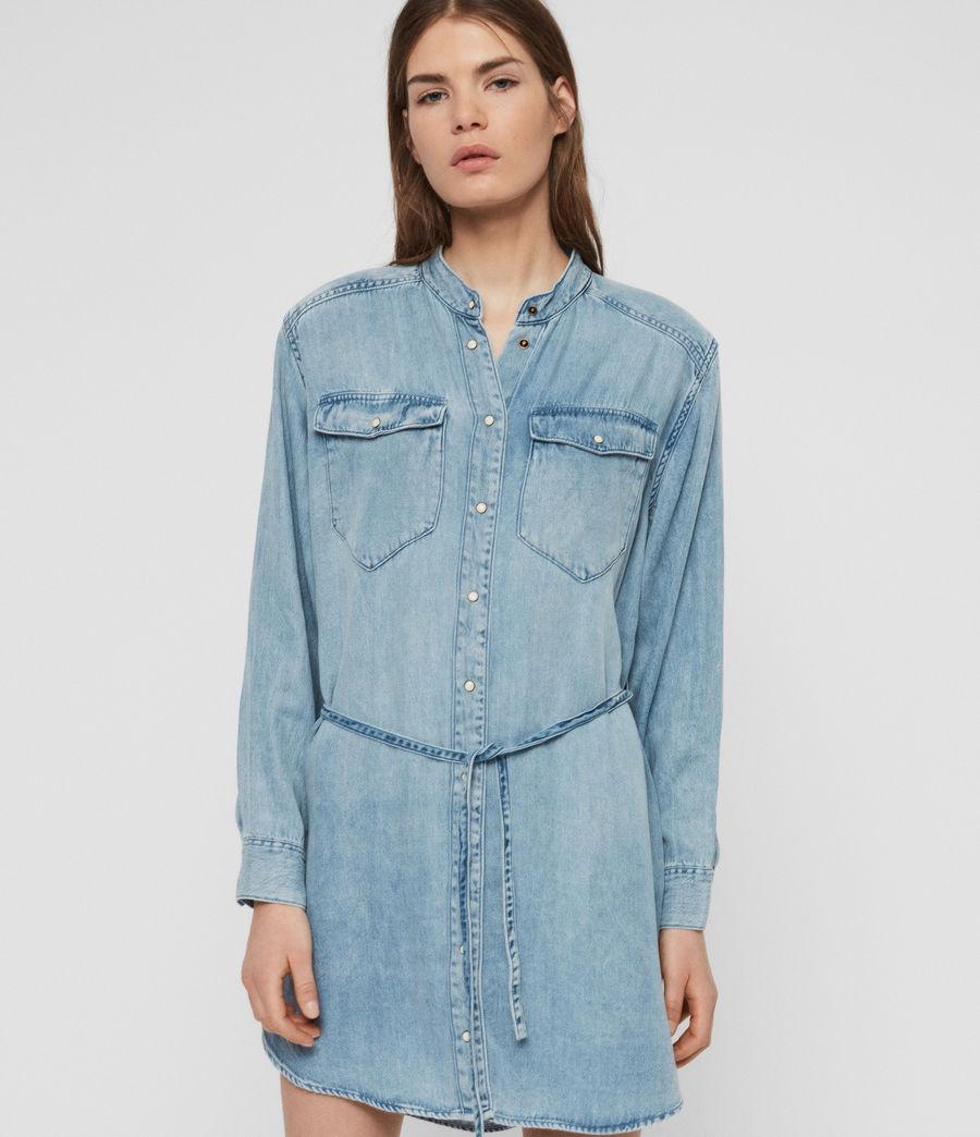 Womens Loe Dress (indigo_blue) - Image 6