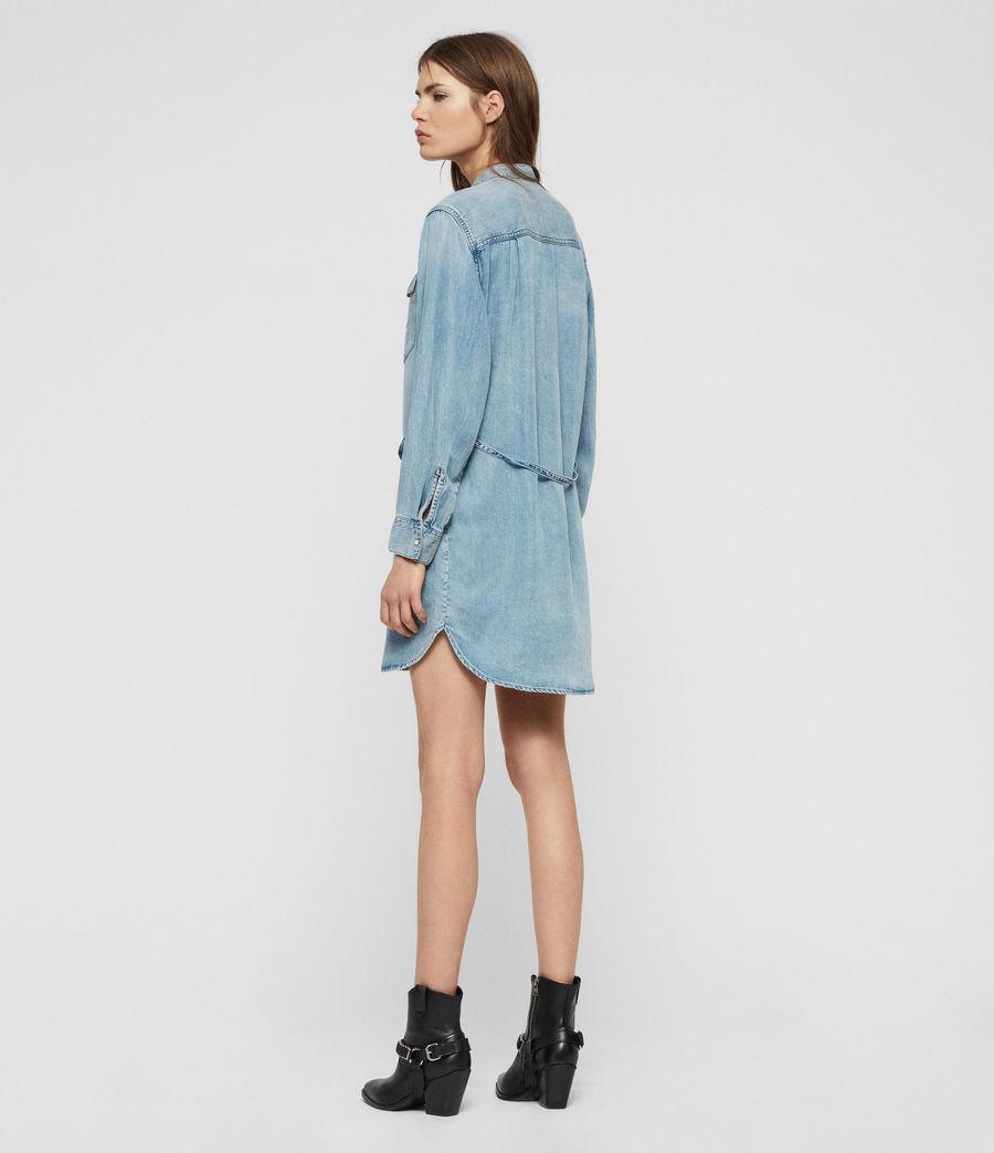 Womens Loe Dress (indigo_blue) - Image 7