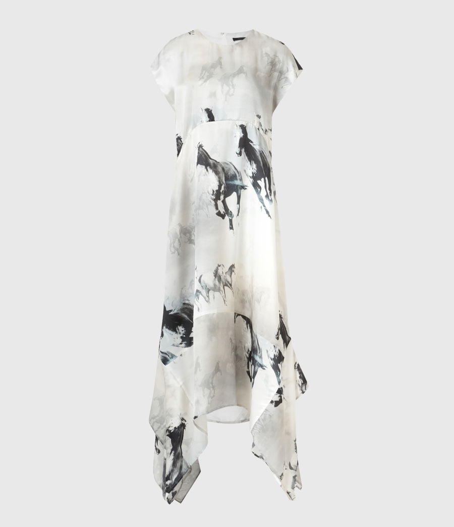 Women's Gianna Epoto Silk Blend Dress (ecru_white) - Image 2