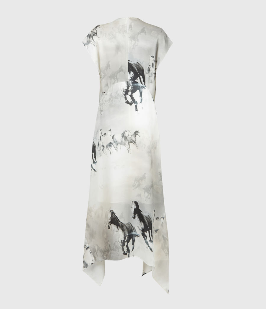 Women's Gianna Epoto Silk Blend Dress (ecru_white) - Image 3