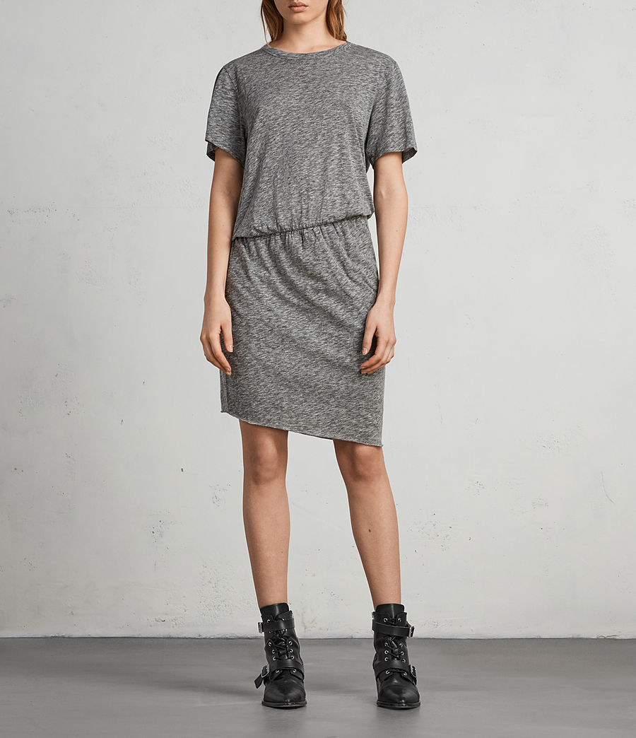 Womens Nandi Flame Dress (grey_marl) - Image 3